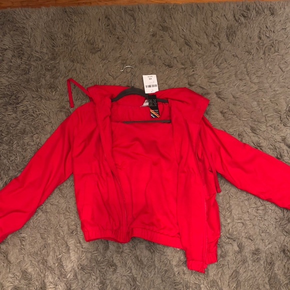Forever 21 Jackets & Blazers - Red rain jacket